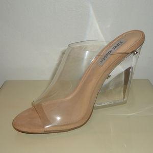 NIB! Steve Madden Vinyl/Clear Sandals, Sz.6